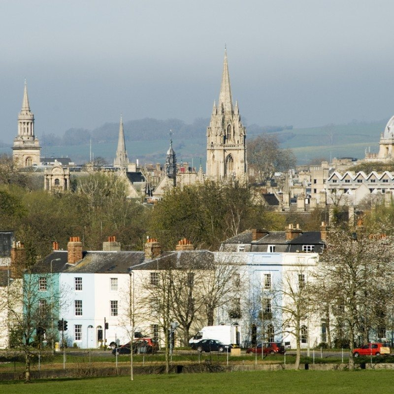 View of Oxford, England from the east