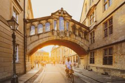 Hertford Bridge, popularly known as the Bridge of Sighs in Oxford
