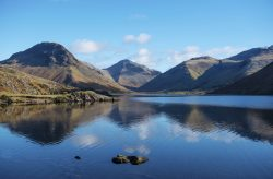 View across Wast Water to the Wasdale Head Mountains Lake District