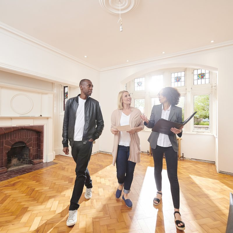 property buying agent couple house-hunting home