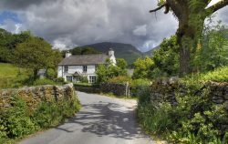 Pretty Cumbrian cottage near Grasmere, The Lake District, England.